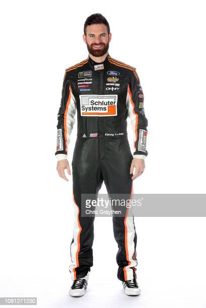 Monster Energy NASCAR Cup Series driver Corey LaJoie poses for a portrait during the NASCAR Production Photo Days at Charlotte Convention Center on...