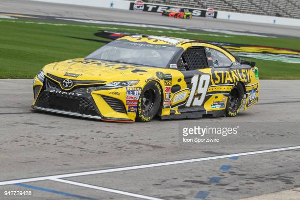 Monster Energy NASCAR Cup Series driver Daniel Suarez drives down pit road during practice for the O'Reilly Auto Parts 500 on April 6 2018 at Texas...