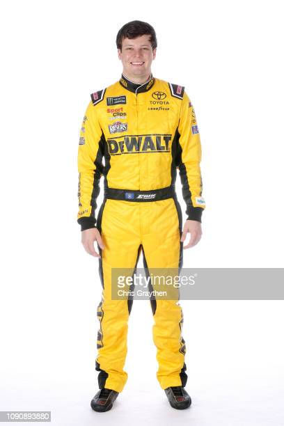 Monster Energy NASCAR Cup Series driver Erik Jones poses for a portrait during the NASCAR Production Photo Days at Charlotte Convention Center on...