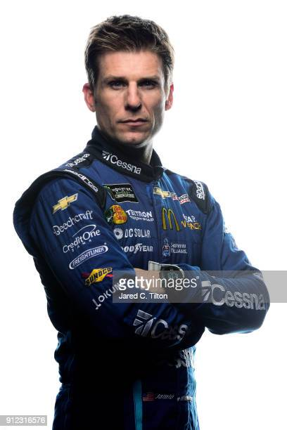 Monster Energy NASCAR Cup Series driver Jamie McMurray poses for a portrait during the NASCAR Media Tour at Charlotte Convention Center on January...