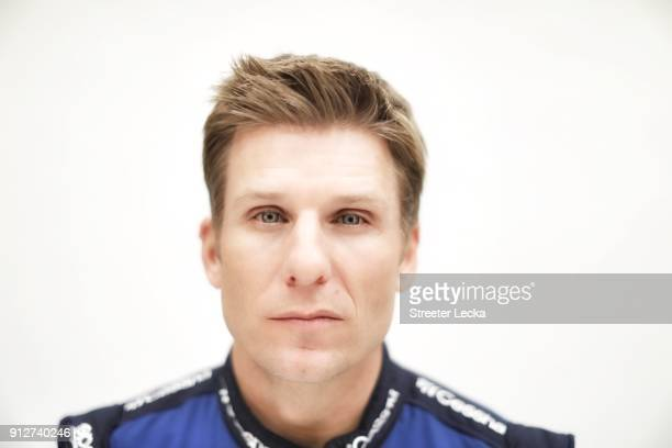 Monster Energy NASCAR Cup Series driver Jamie McMurray poses for a portrait during the Monster Energy NASCAR Cup Series Media Tour at Charlotte...