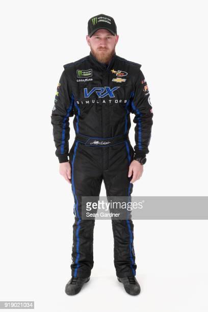 Monster Energy NASCAR Cup Series driver Jeffery Earnhardt poses for a portrait at Daytona International Speedway on February 15 2018 in Daytona Beach...