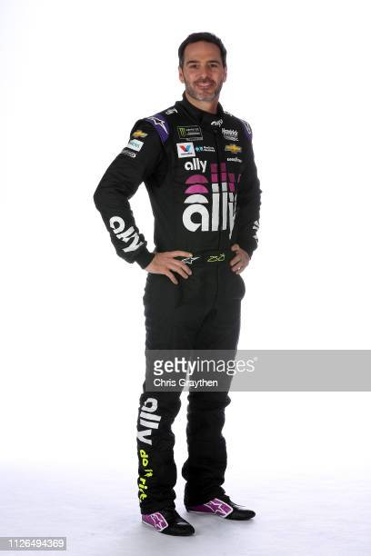 Monster Energy NASCAR Cup Series driver Jimmie Johnson poses for a photo at the Charlotte Convention Center on January 30 2019 in Charlotte North...