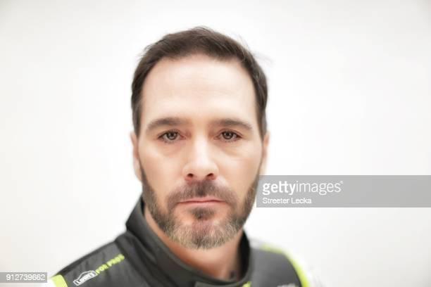Monster Energy NASCAR Cup Series driver Jimmie Johnson poses for a portrait during the Monster Energy NASCAR Cup Series Media Tour at Charlotte...