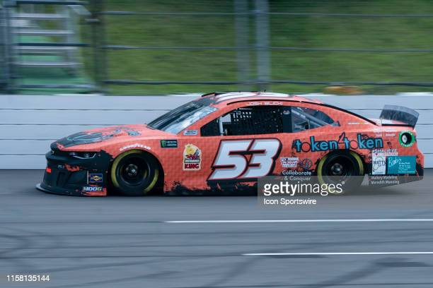 Monster Energy NASCAR Cup Series driver Josh Bilicki of the Rick Ware Racing Chevrolet Camaro qualifies 33rd during qualifying for the Monster Energy...