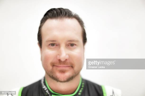 Monster Energy NASCAR Cup Series driver Kurt Busch poses for a portrait during the Monster Energy NASCAR Cup Series Media Tour at Charlotte...