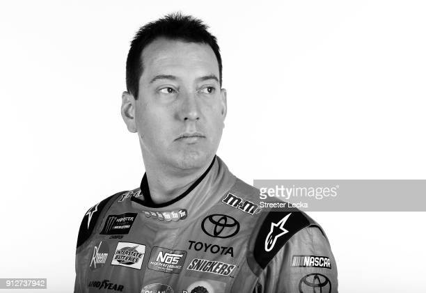 Monster Energy NASCAR Cup Series driver Kyle Busch poses for a portrait during the Monster Energy NASCAR Cup Series Media Tour at Charlotte...