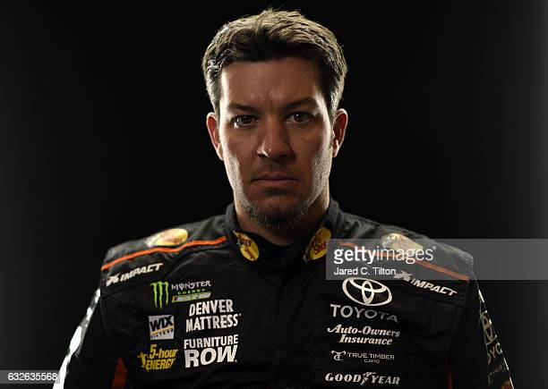 Monster Energy NASCAR Cup Series driver Martin Truex Jr poses for a photo during the NASCAR 2017 Media Tour at the Charlotte Convention Center on...