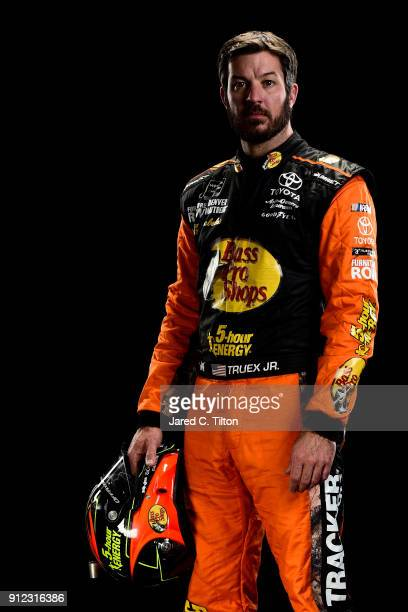 Monster Energy NASCAR Cup Series driver Martin Truex Jr poses for a portrait during the NASCAR Media Day at Charlotte Convention Center on January 24...