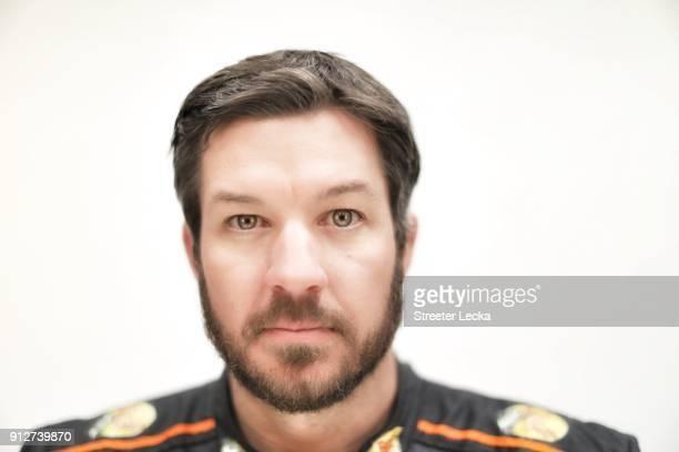 Monster Energy NASCAR Cup Series driver Martin Truex Jr poses for a portrait during the Monster Energy NASCAR Cup Series Media Tour at Charlotte...