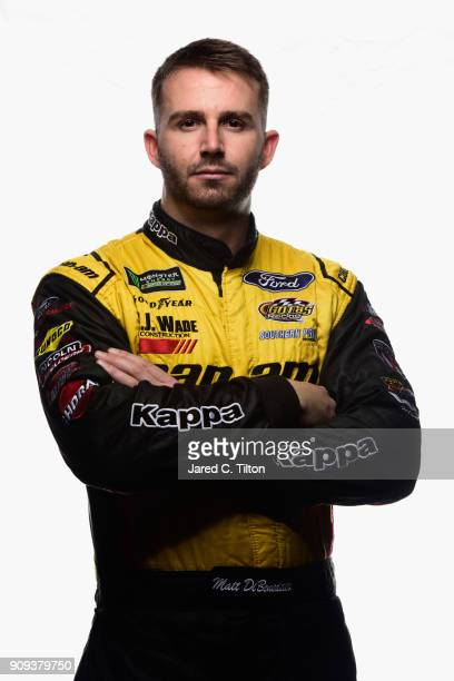 Monster Energy NASCAR Cup Series driver Matt DiBendetto poses for a photo at Charlotte Convention Center on January 23 2018 in Charlotte North...