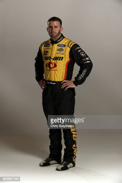 Monster Energy NASCAR Cup series driver Matt DiBenedetto poses for a photo during the NASCAR Media Tour at Charlotte Convention Center on January 23...