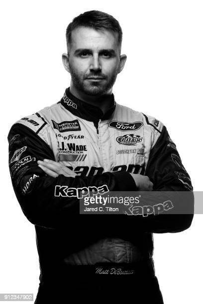 Monster Energy NASCAR Cup Series driver Matt Dibenedetto poses for a portrait during the NASCAR Media Tour at Charlotte Convention Center on January...