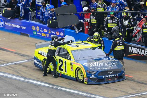 Monster Energy NASCAR Cup Series driver Paul Menard gets out of the car during the running of the Monster Energy NASCAR Cup Series 1000Bulbscom 500...