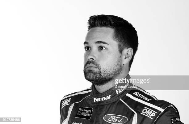 Monster Energy NASCAR Cup Series driver Ricky Stenhouse Jr poses for a portrait during the Monster Energy NASCAR Cup Series Media Tour at Charlotte...