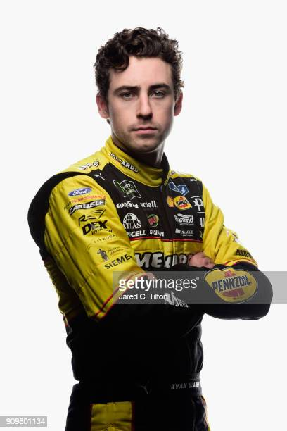 Monster Energy NASCAR Cup Series driver Ryan Blaney poses for a photo at Charlotte Convention Center on January 24 2018 in Charlotte North Carolina
