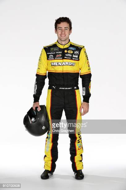 Monster Energy NASCAR Cup Series driver Ryan Blaney poses for a photo during the NASCAR Media Tour at Charlotte Convention Center on January 23 2018...