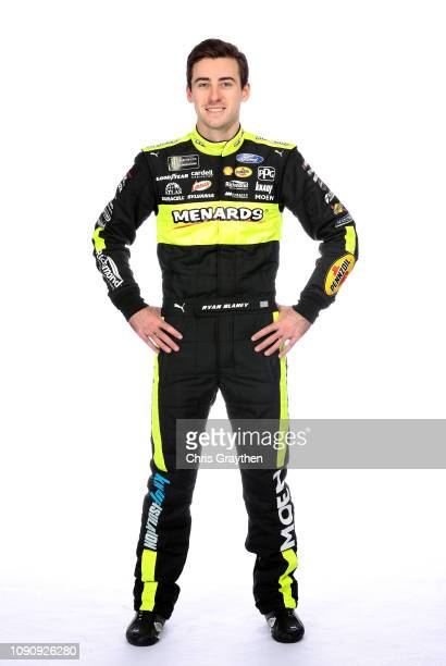 Monster Energy NASCAR Cup Series driver Ryan Blaney poses for a portrait during the NASCAR Production Photo Days at Charlotte Convention Center on...