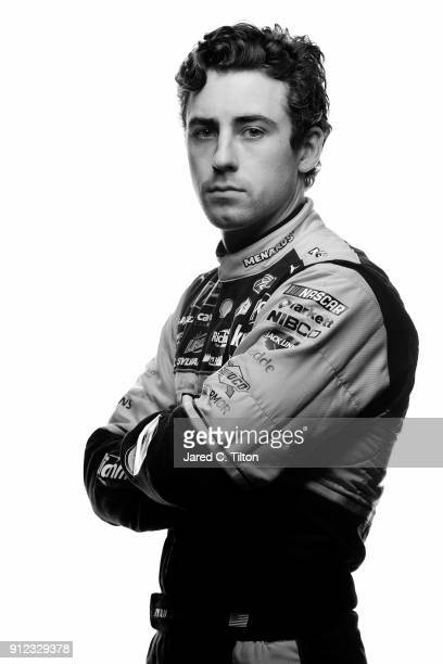 Monster Energy NASCAR Cup Series driver Ryan Blaney poses for a portrait during the NASCAR Media Day at Charlotte Convention Center on January 24...