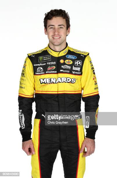 Monster Energy NASCAR Cup Series driver Ryan Blaney poses for photos during the NASCAR Media Tour at Charlotte Convention Center on January 24 2018...