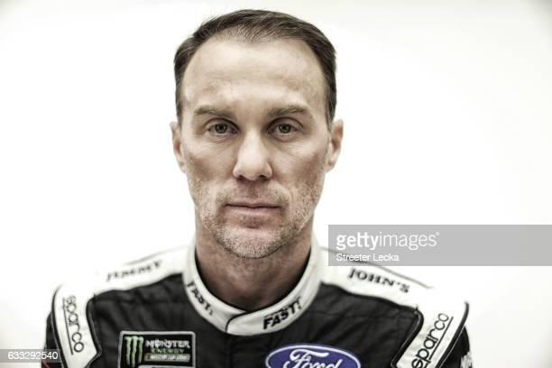 Monster Energy NASCAR Sprint Cup Series driver Kevin Harvick poses for a photo during the NASCAR 2017 Media Tour at the Charlotte Convention Center...