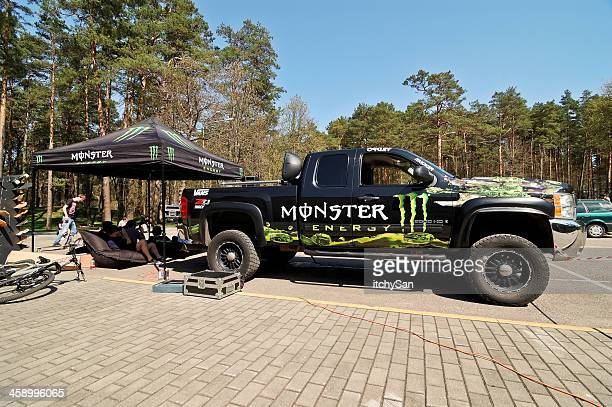 monster energy truck - monster truck stock pictures, royalty-free photos & images