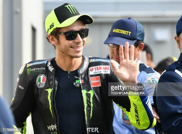 Monster Energy Yamaha MotoGP rider Valentino Rossi of Italy walks on the paddock prior to the MotoGP warm up session of Japanese motorcyle Grand Prix...