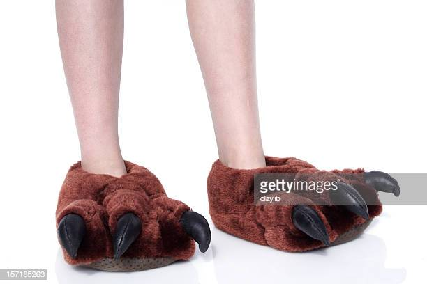 monster feet - hairy legs stock photos and pictures