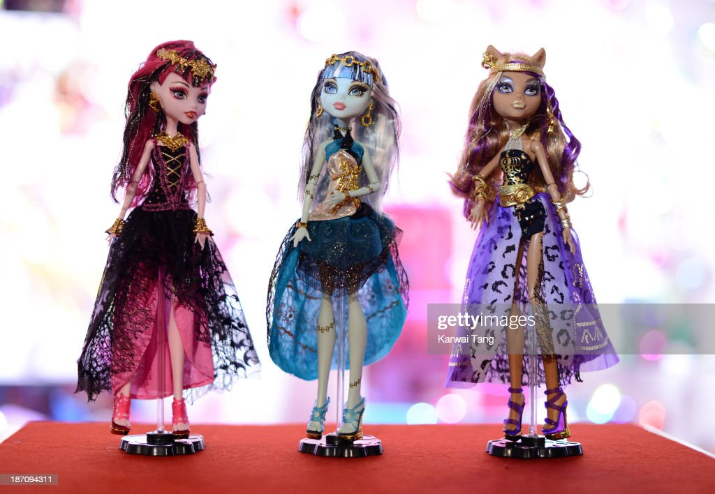 Monster High 13 Wishes Dolls, named one of the must-have toys for Christmas 2013, is unveiled today at the Dream Toys Fair at St Mary's Church on November 6, 2013 in London, England.