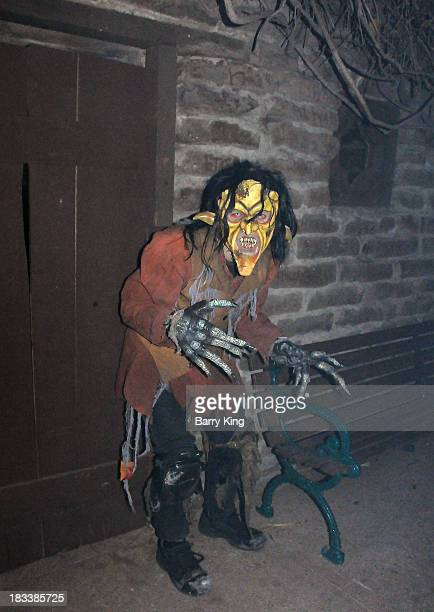 Monster in Ghost Town on October 5 2013 at Knott's Scary Farm in Buena Park California