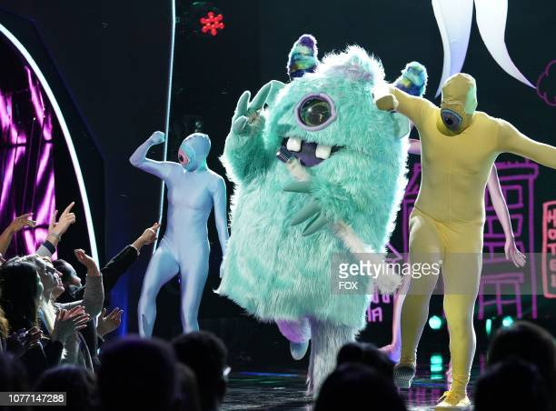 Monster in the Mask On Face Off series premiere of THE MASKED SINGER airing Wednesday Jan 2 on FOX