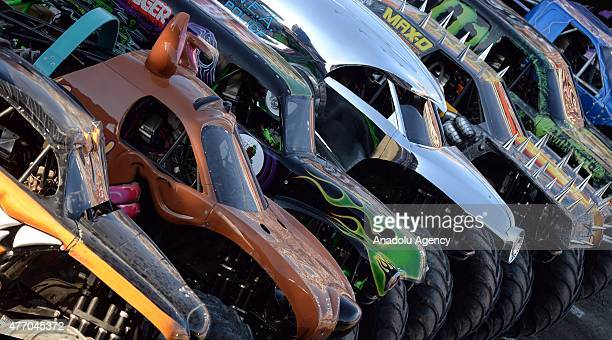 Monster Jam Madrid one day event is held on June 13 2015 at the Estadio Vicente Calderon in Madrid Spain This event showcases products like Raminator...