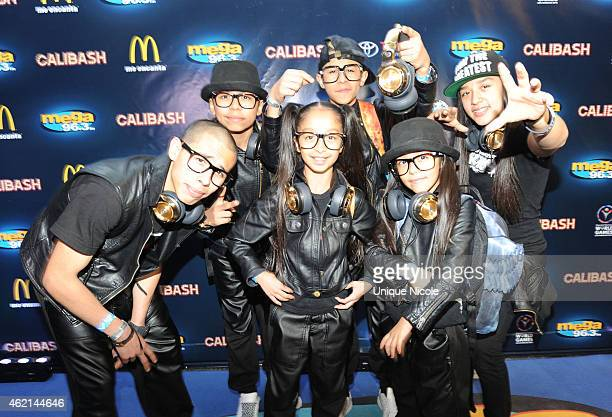 Monster Kids arrive at the Mega 963 Calibash at Staples Center on January 24 2015 in Los Angeles California