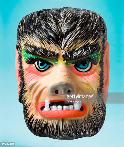 monster mask - werewolf stock photos and pictures