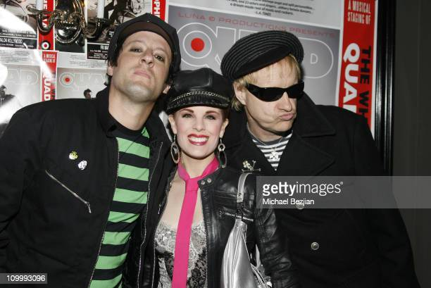 Monster Matt and Kat Kramer and Billy Bones during Quadrophenia Musical Theatre Performance at The Avalon in Hollywood California United States