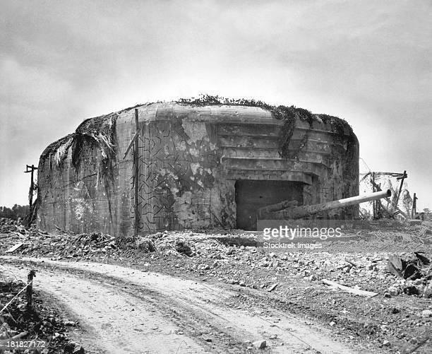 Monster Nazi gun battery silenced in France.