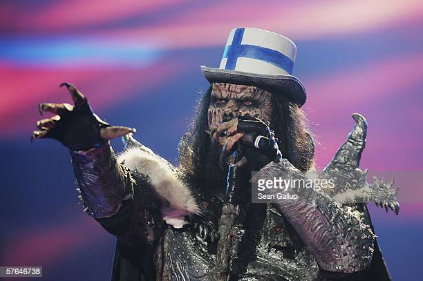 Monster rocker Lordi of Finland performs at the dress rehearsal prior to the semifinals of the 2006 Eurovision Song Contest May 18 2006 in Athens...