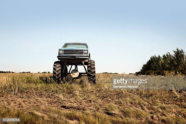 Monster truck in a field