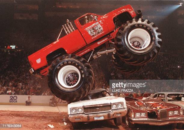 A Monster Truck performs at the Capitol Centre in Landover Maryland 08 November 1986 Luke FRAZZA/AFP PHOTO