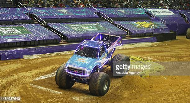 Monster Trucks race for elimination on January 24 2014 in Washington United States to be in the World Monster Truck Final which will be held between...