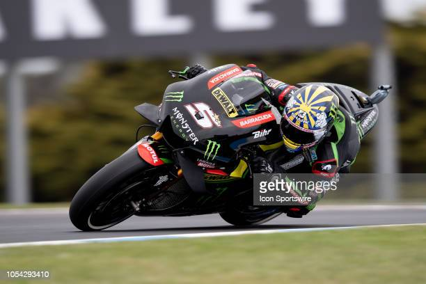 Monster Yamaha Tech 3 rider Johann Zarco in qualifying during The 2018 Australian MotoGP at The Phillip Island Circuit in Victoria Australia on...