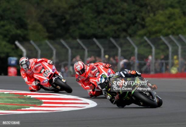 Monster Yamaha's Bradley Smith during the Moto GP Hertz British Grand Prix at Silverstone Northamptonshire