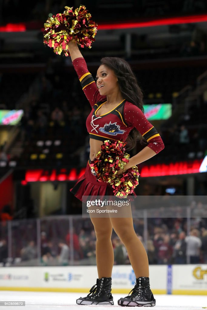 A Monsters Hockey Girl On The Ice Following American Hockey League