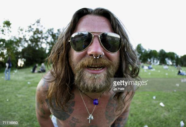 Monsters of Rock fan is seen at Monsters Of Rock rock festival a revival of the hard rock festival which first took place in 1980 at Milton Keynes...