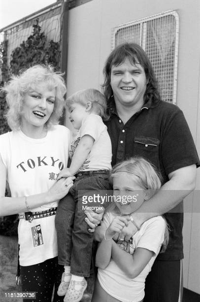 Monsters of Rock festival at Castle Donington pictured Meatloaf and his wife Leslie Aday 20th August 1983