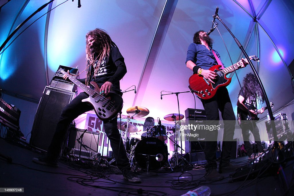 Monstro performs onstage in the Miller Lite Tent during Day 1 of Bonnaroo 2012 on June & Miller Lite Tent Stock Photos and Pictures   Getty Images