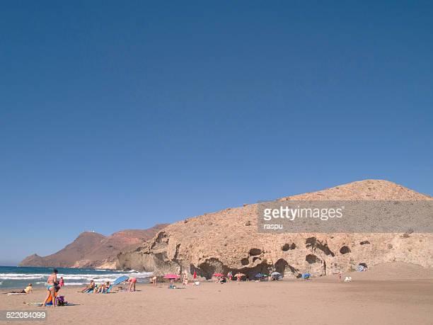 monsul beach in cabo de gata - san jose california stock pictures, royalty-free photos & images