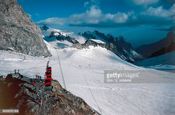 Mont Blanc cable car Aosta Valley Italy