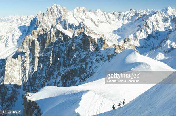 mont blanc - valle blanche fotografías e imágenes de stock
