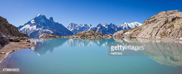 Mont blanc reflected in Lac Blanc